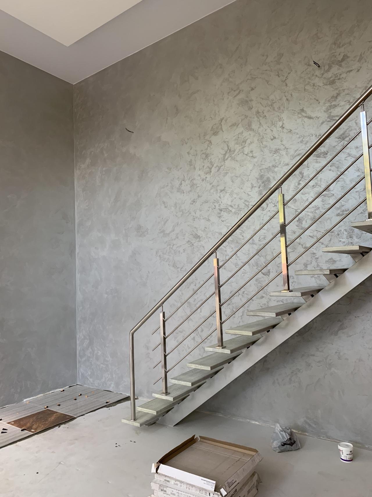 Проект 17/2020. Кухня-гостиная, Геленджик - Oikos Supercolor + Effectum Кристл