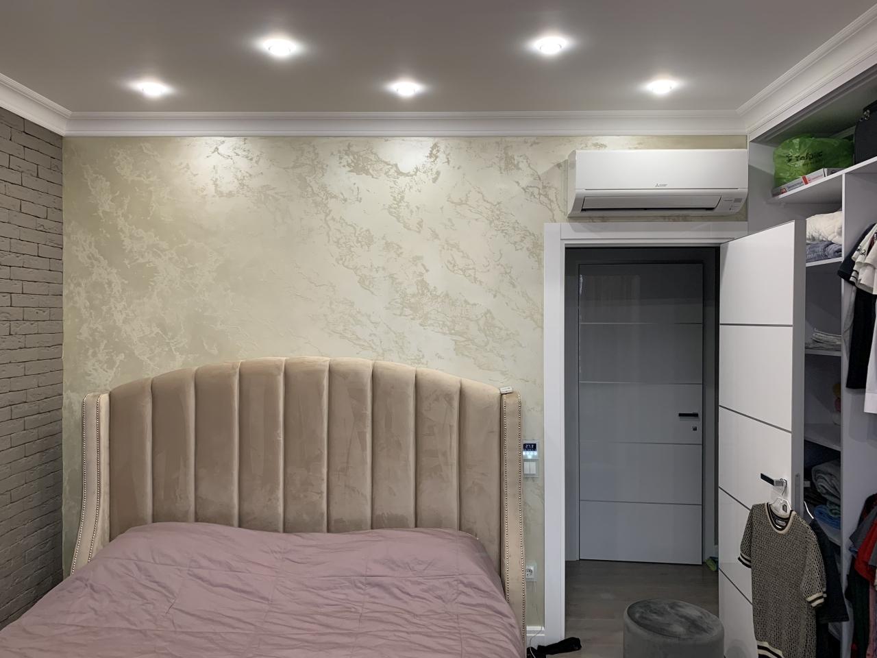 Акцентная стена в спальне, Новороссийск - Decorazza Base+Lucetezza